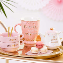 pink and gold drinking prosecco tea pot set sass & belle
