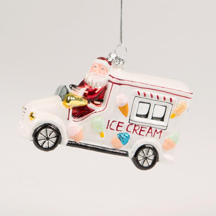 Christmas Santa ice cream truck hanging decoration sass & belle