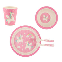 sass & belle bamboo unicorn dinner set