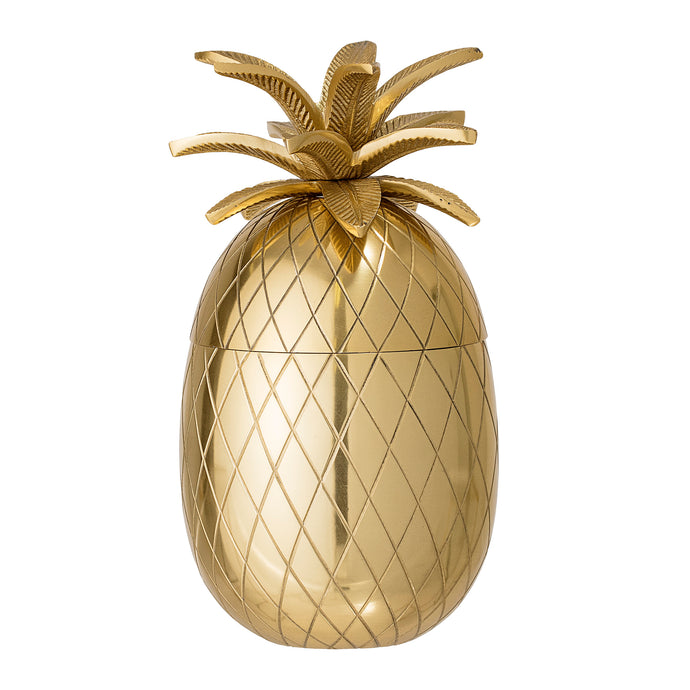 Gold metal pineapple ice bucket from Bloomingville
