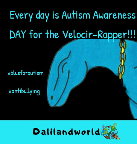 Autism awareness the Velocir-Rapper