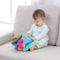 Aipinqi baby book multi-functional dressing three-dimensional book baby tear not bad early education puzzle cloth book