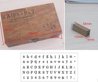 70pcs Vintage DIY Number And Alphabet Letter Wood Rubber Stamps Set With Wooden Box For Teaching And Play