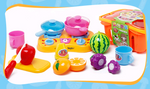 Children's play house fruit basket Fruit cut and cut Infant kitchen play house educational toys
