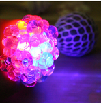 Flash Mesh Squishy Ball Multi Color Vent Grape Ball  Squeezing Toys