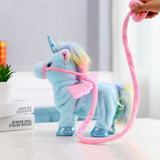 1pc Electric Walking Unicorn Plush Toy soft horse Stuffed Animal Toy Electronic sing Music Unicornio Toy Children Christmas Gift