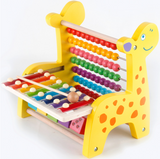 Wooden multi-function early education frame
