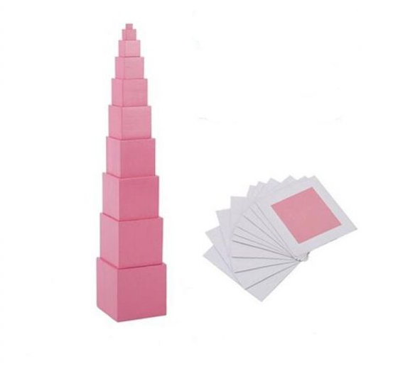 Children's Sensory Toy Pink Tower
