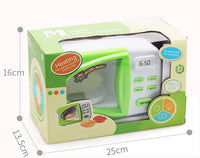 Children's simulation microwave oven electric toy