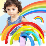 Kids Wooden block Rainbow Wooden Buliding Blocks