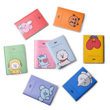 Notebook student stationery thin soft leather binding this lovely surrounding star with the cartoon doll book