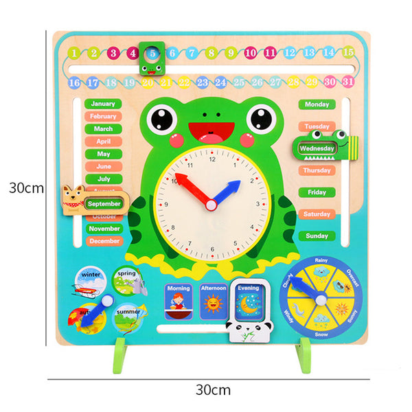 Teaching aid multi-function calendar clock