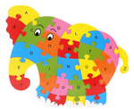 Educational wooden puzzle assorted
