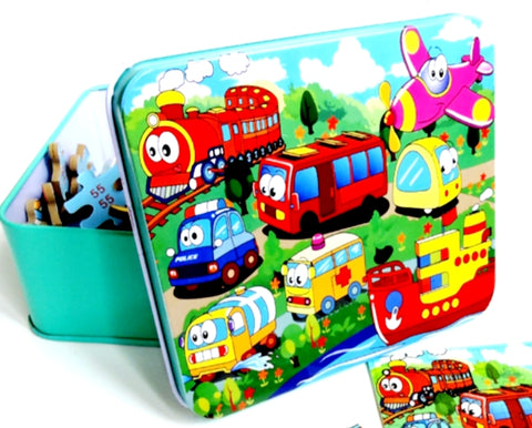 Puzzle tin 80 piece assorted