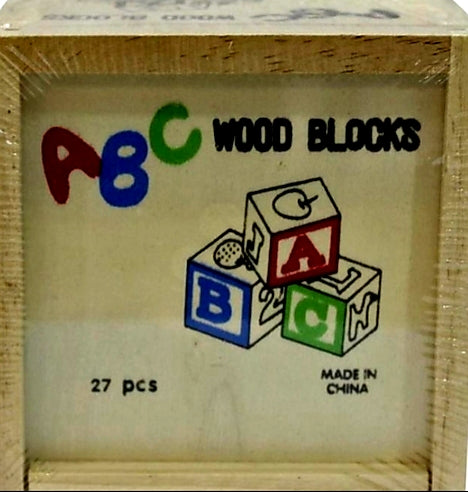 ABC wooden blocks 27 piece