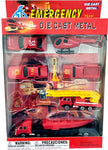 Die cast metal set 9 piece rescue vehicles