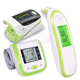 Infrared ear temperature, electronic thermometer, finger clamp pulse oximeter and wrist sphygmomanometer