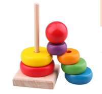 Children's educational wooden toys Rainbow Tower Jenga Stacks high