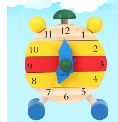 Children's disassembly and assembly alarm clock, small clock, knowing time, preschool education, children's wooden toys