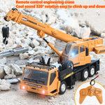 Wireless remote control truck crane toy Rechargeable remote control lift simulation crane child toy model