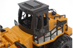 Remote control engineering vehicle 6-pass alloy version loading truck bulldozer child charging remote control toy forklift