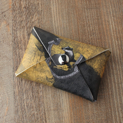 "Miniature zero wallet ""Harry Potter"" Hufflepuff college, zero wallet, male and female coin bag wholesale"