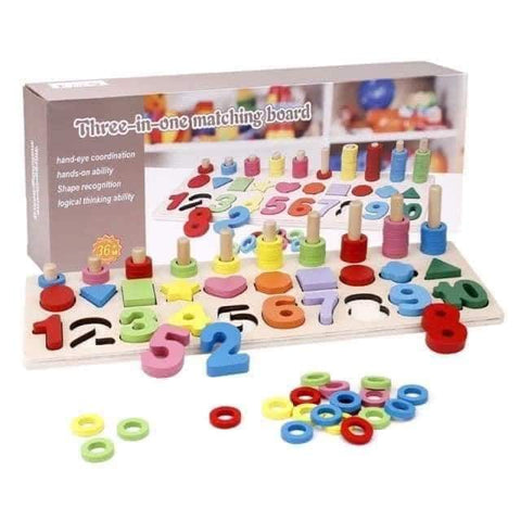 Toddler Toy 3 in 1 Matching Board