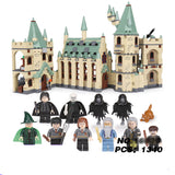 Movie Hogwarts castle Legoings Harry Potter Movie Action Figure Blocks Model Building Bricks Toys For Children Fit For LegoINGS