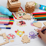 Children watercolor pen graffiti tool set early childhood educational toys wooden painting graffiti drawing board