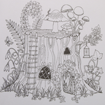 Magic Forest Children's Painting Coloring Book