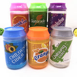 Cute 5 color cans of Slime crystal mud DIY transparent jelly mud blowing bubbles (China)