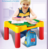 Children's educational toys table spelling large grain toys Multifunctional building blocks learning table