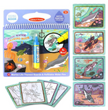 Children's baby water painting can be used repeatedly Graffiti this magical graffiti colorful water album eight bags