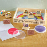 Melissa & Doug My First Wooden Stamp Set