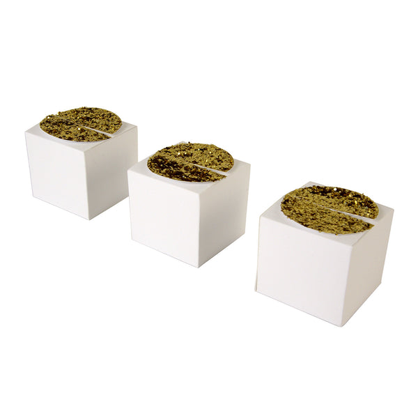 Gold Glitter Treat Boxes