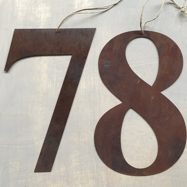 Rusty Metal Letters & Numbers