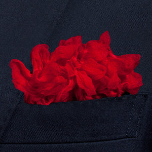 Red Shibori Zome pocket square