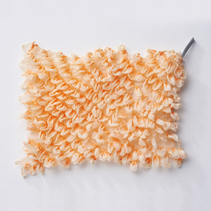 Pale orange Shibori Zome pocket square