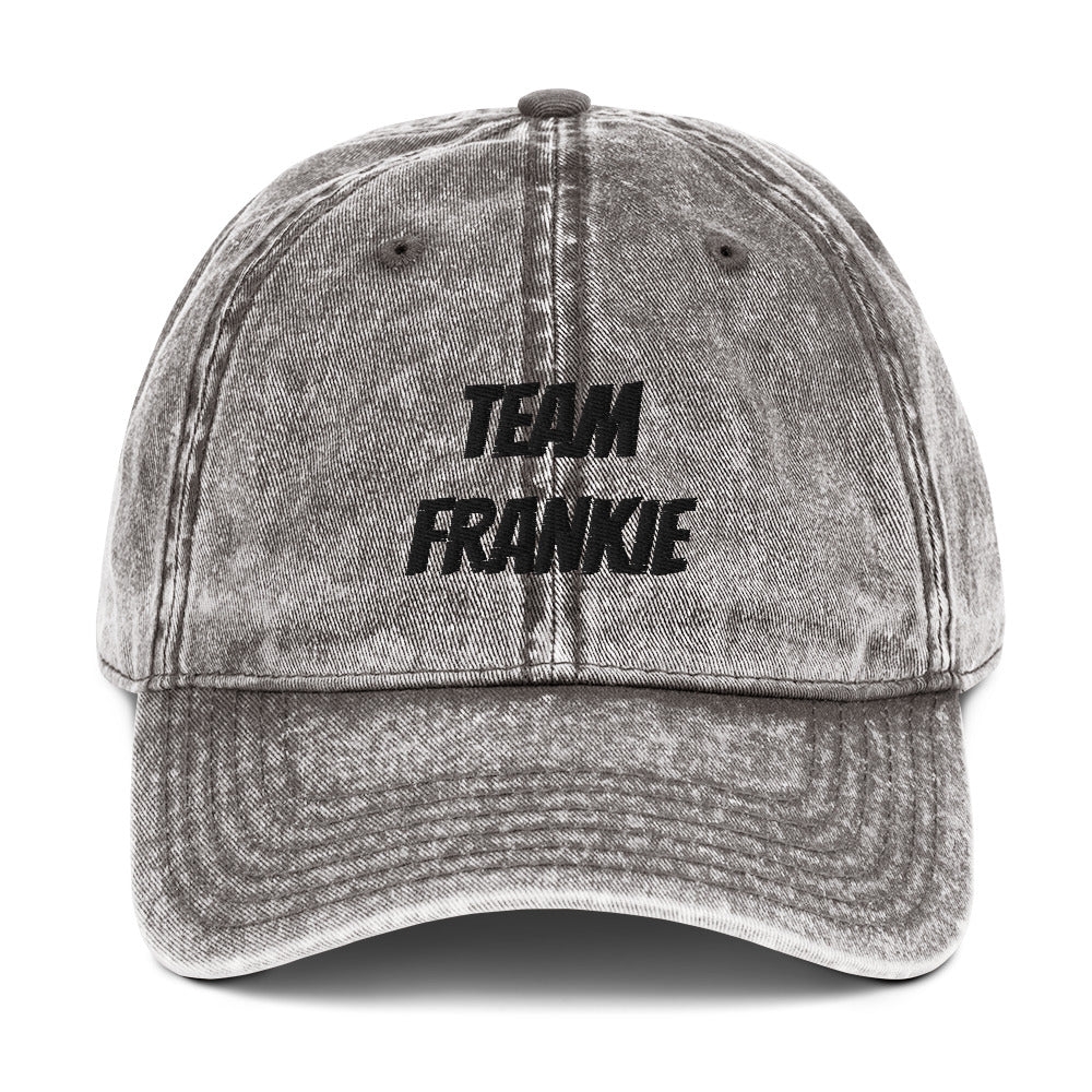 Vintage Cotton Twill Cap- Team Frankie
