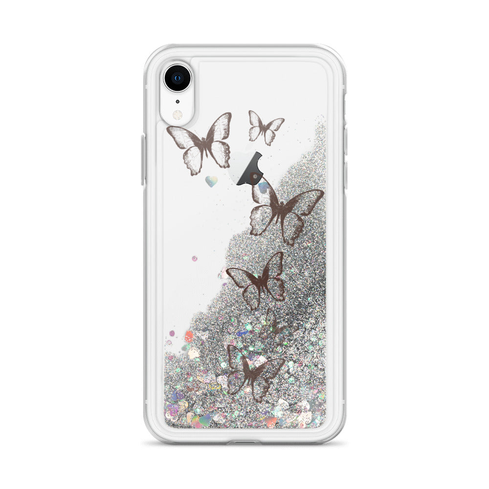 Liquid Glitter Butterfly Phone Case
