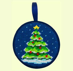 Needlepoint Class: Christmas Tree Ornament