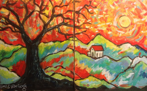 Couple's Class - Colorful Mountain Scape