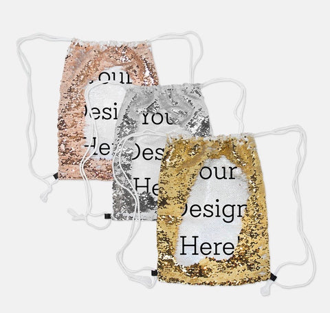 Kids: Sequin Drawstring Backpack