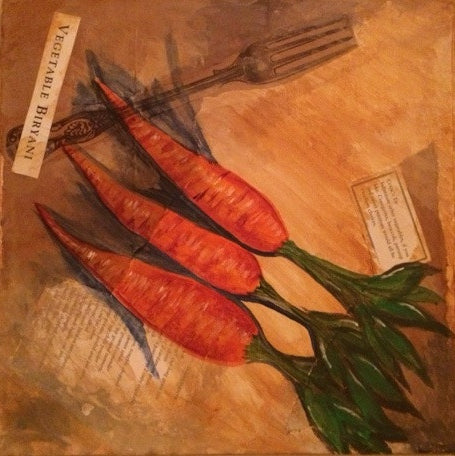 Carrot Mixed Media Paint Night at Swamp Rabbit Grocery