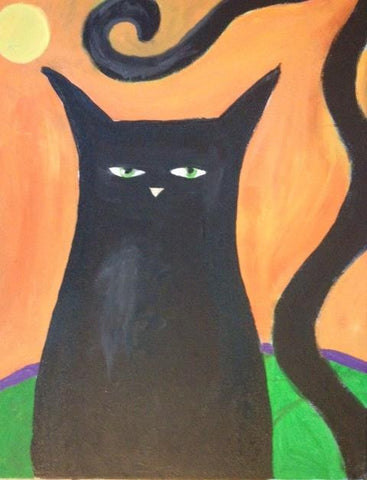 Kids Columbus Day Class: Black Cat