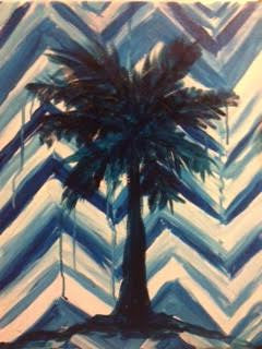 Blue and White Palmetto