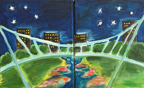Couples Painting: Downtown Greenville Night