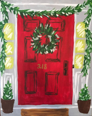 Festive Holiday Door