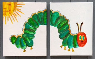 Mommy & Me: The Very Hungry Caterpillar Painting