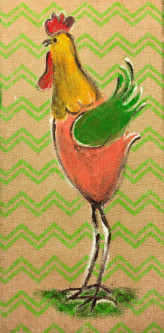 Mommy & Me Burlap Rooster